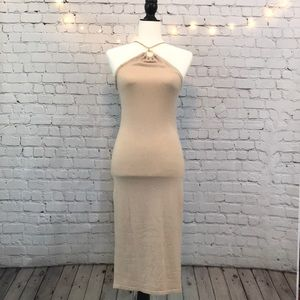 VICTORIA'S SECRET KNIT CHAIN HALTER DRESS